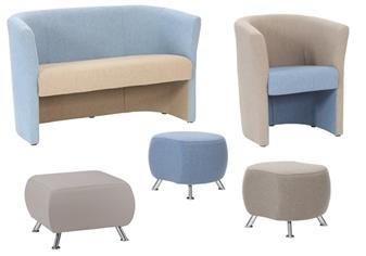 Epsom Tub Chair & Sofa With Skittles