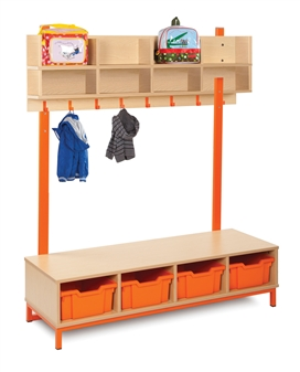 Cloakroom Top With 8 Compartments & Bottom With 4 Deep Trays