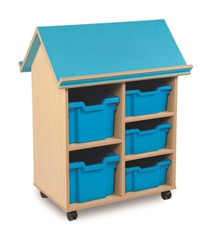 Book House With 3 Deep Trays & 2 Extra Deep Trays