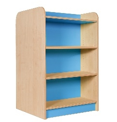 Double Sided Bookcase 100mm High Powder Blue