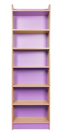 Slimline Bookcase 2000mm High Lilac