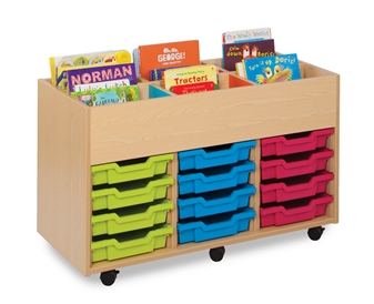 6 Bay Kinderbox With 12 Shallow Trays