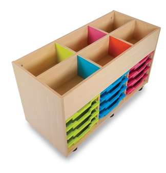 6 Bay Kinderbox Showing Coloured Inner Panels