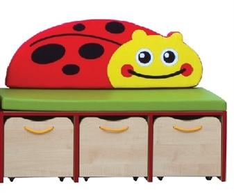 Ladybird Small Storage/Seating Set Red Edging