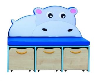 Hippo Small Storage/Seating Set Blue Eding