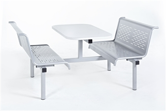Laser Bench 4 Seater Access 1 Side in Silver