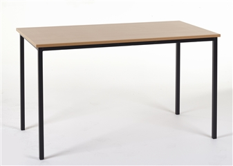 1100 x 550 Rectangular Spiral Stacking Classroom Table MDF Edge