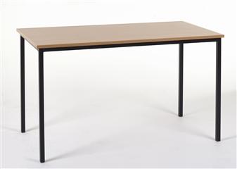 1100 x 550 Rectangular Spiral Stacking Classroom Table MDF Edge
