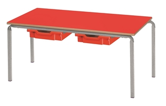 Crushed Bent Table With Drawers