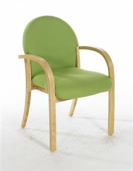 LENNOX Beech Wooden Conference / Meeting Room Armchair - Vinyl