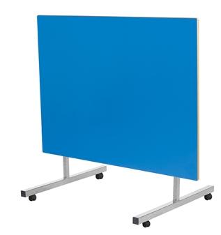 Tilt Top Dining Table Blue Top MDF Edge