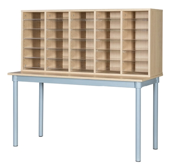 Pigeon Hole Unit With Table - 30 Space