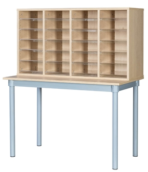 Pigeon Hole Unit With Table - 24 Space