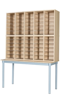 Pigeon Hole Unit With Table - 60 Space