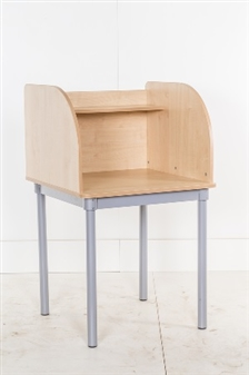 Single Study Carrel Curved