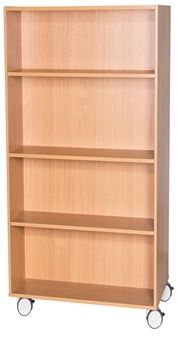 1500mm High Mobile Double Sided Bookcase