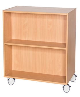 900mm High Mobile Double Sided Bookcase