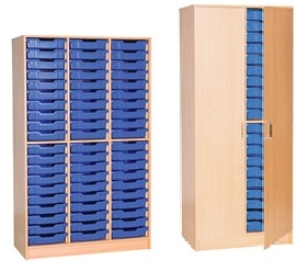 60 Tray Open  Triple & 40 Tray Cupboard Double