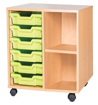 6 Tray With Shelf