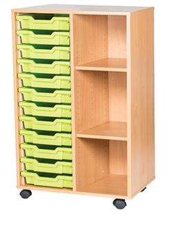 12 Tray With Shelf