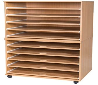 10 Sliding Shelves A1 Paper Storage