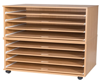 8 Sliding Shelves A1 Paper Storage