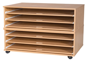 6 Sliding Shelves A1 Paper Storage