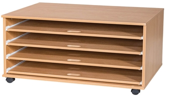 4 Sliding Shelves A1 Paper Storage