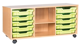 5 High 10 Tray Triple Middle Shelf