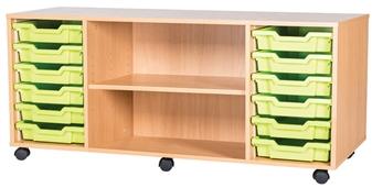 6 High 12 Tray Quad Middle Shelf
