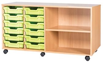 6 High 12 Tray Quad Side Shelf