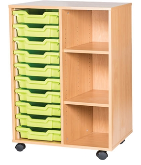 10 High 10 Tray Double Side Shelf
