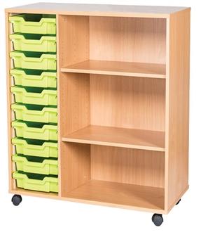 10 High 10 Tray Triple Side Shelf