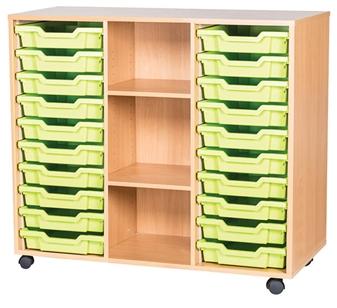 10 High 20 Tray Triple Middle Shelf
