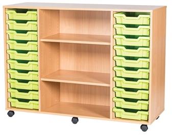 10 High 20 Tray Quad Middle Shelf