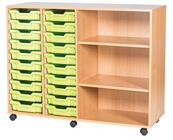 10 High 20 Tray Quad Side Shelf