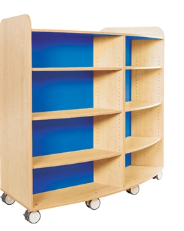 1500mm High Curved Bookcase