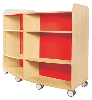 1250mm High Curved Bookcase