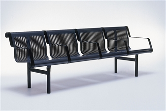 Samson 4 Seater Beam shown In Midnight Blue With Individual Arms