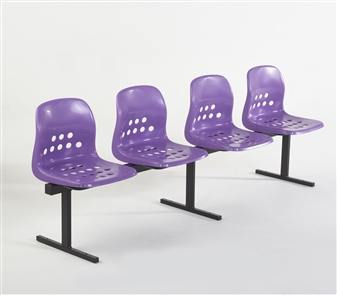 Pepperpot 4 Seat Beam in Purple Seat & Black Frame