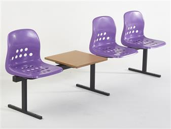 Pepperpot 3 Seat Beam + Table