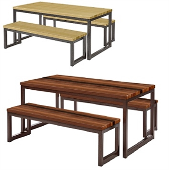 Premium Solid Wood Dining Sets - Oak & Walnut