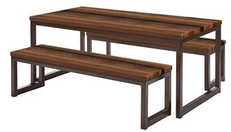 Premium Solid Wood Dining Sets - Walnut
