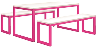 Telemagenta Frame With White Top