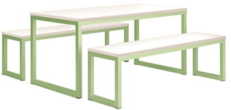 Pastel Green Frame Wtih White Top
