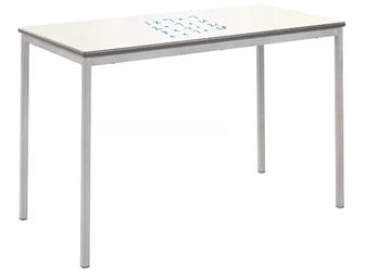 WhiteBoard Recatangular Full Welded Table PU Edge