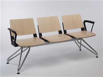 Versit Ply Beam Seat SSS Shown With Platinum Frame & Arms