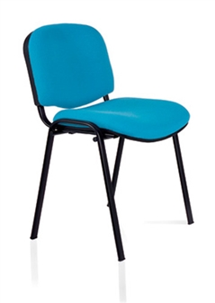 Ecton Stacking Side Chair Black Frame - Vinyl