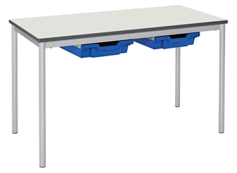 Premium Fully Welded Table With Pu Edge & Whiteboard Top & Gratnell Trays