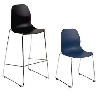 Linton High Skid Base Chair  & Linton Skid Base Chair